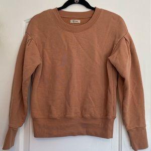Beige/ballet pink Madewell sweatshirt